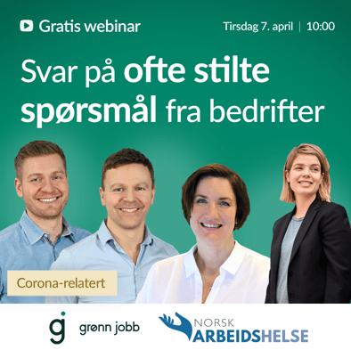 Grønn Jobb Webinar - Ofte stilte spørsmål 3